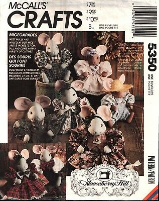 Vintage Gooseberry Hill Mice Capades Doll Pattern & Clothes McCall's 5350 UNCUT