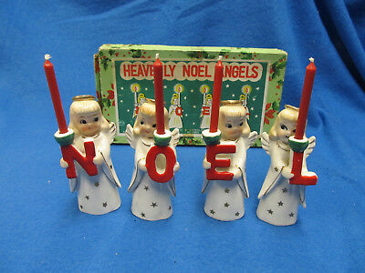 Vintage Heavenly Noel Angels in the Original Box, 1950's with candles