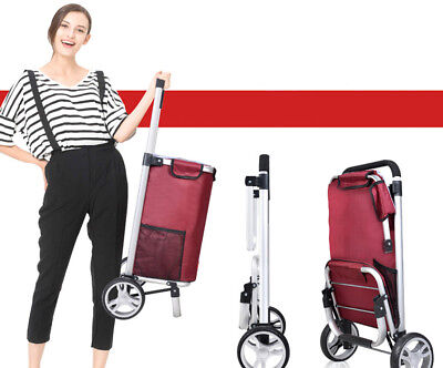 A95 Rugged Aluminium Luggage Trolley Hand Truck Folding Foldable Shopping Cart