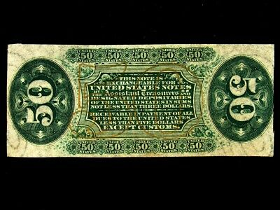 FR. 1331 US 3rd Issue 50 Cent Fractional Specimen - UNC - Green Reverse
