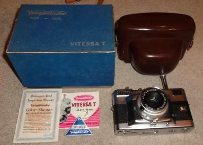 VOIGTLANDER VITESSA T 35MM CAMERA SKOPAR 1:2,8/50 LENS in BOX w/ INSTRUCTIONS