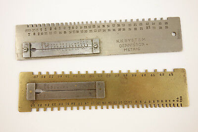 Antique & Vintage Lot of 2 Mainspring Gauge K.K System Dennisson France