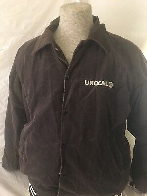 Vtg 80s Unocal 76 Gas Service Station Black Jacket Made In USA BY HARTWELL Sz M