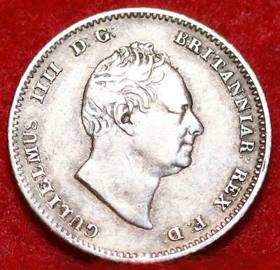 1836 Great Britain 4 Pence Silver Foreign Coin
