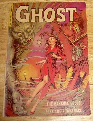 GHOST Comics #1 Fiction House pre-code horror GGA cover rare Canadian edition