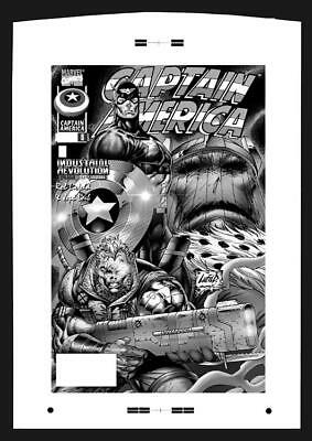 Rob Liefeld Captain America #6 Rare Large Production Art Cover