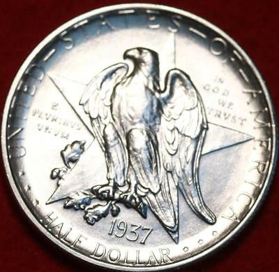 Uncirculated 1937-S San Francisco Mint Texas Silver Comm Half