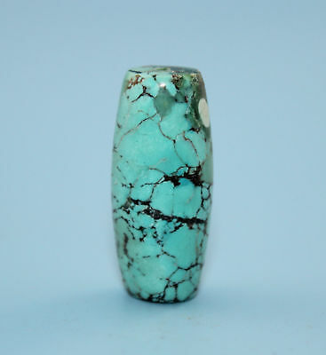 33*14 mm Antique Undressed dzi turquoise old Bead from Tibet **Free shipping**