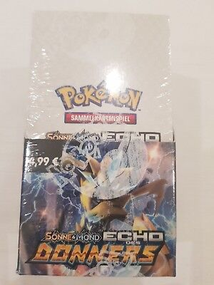 Pokemon  Sonne & Mond - Echo des Donners 18 Booster/Display (D) = 180 Cards  OVP