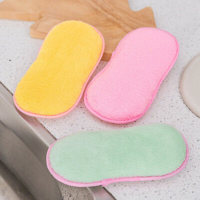 Scouring Pads Double Sided Antibacterial Scrubbing Sponges Scourer Dish Cleaning