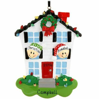 House Multi Family of 2 3 4 5 6 Personalized  Christmas Ornament