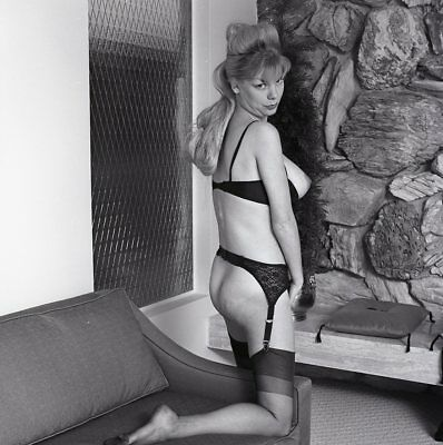 1960s Ron Vogel Negative, busty nude blonde pin-up girl Kim Kimberly, t216661