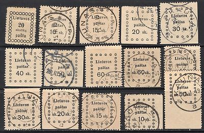 Lot Lithuania, 1918, M/U, combine shipping 35