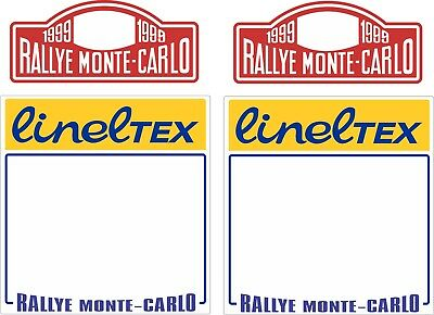 1999 Monte Carlo Rally Plate Decal Set