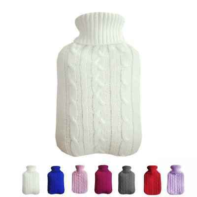 2000ml HOT WATER BOTTLE Winter Warm Knitted Cover Relaxing Warmer