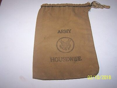 Original WWII US ARMY HOUSEWIFE Canvas Bag