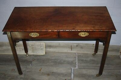 Very elegant antique mahogany carved hall table small writing desk mid Victorian