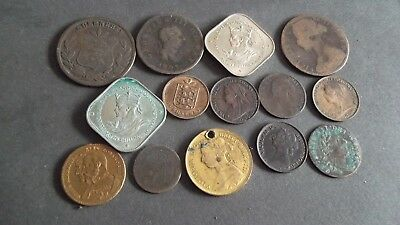 JOB LOT OF INTERESTING OLD COINS  99p VGE-3
