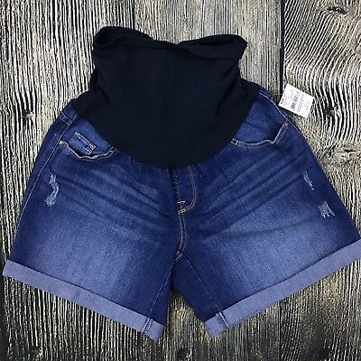 Oh Baby by Motherhood Maternity Shorts Size Large L Denim Jeans Distressed NWT