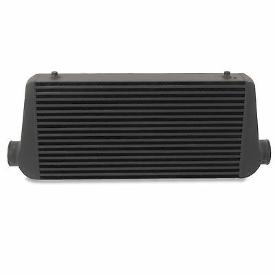 "3"" 76mm XL BLACK ALUMINIUM ALLOY DRIFT DRAG RALLY FRONT MOUNT INTERCOOLER FMIC"