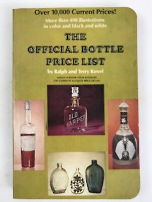 1971 Antique Official Bottle List Book Kovel