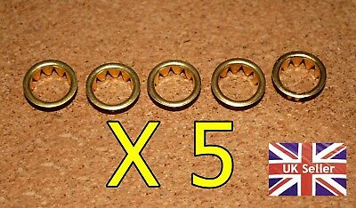 5 BRASS CLOCK FACE / KEYHOLE  GROMMETS FOR 10mm HOLE. FREE POSTAGE. BARGAIN!!!!!