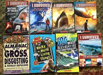 I Survived Nature Natural Disasters Almanac Gross Disgusting Facts 8 Books Lot