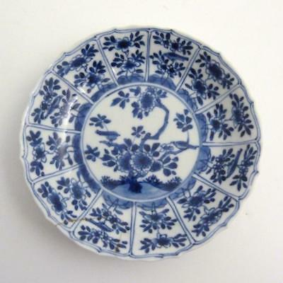 18Th Century Chinese Blue And White Porcelain Saucer, Kangxi Period