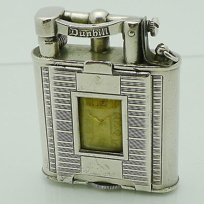 DUNHILL  Lighter - UNIQUE WATCH A-Size PPDW 3  Sterling Silver - Art Deco 1929