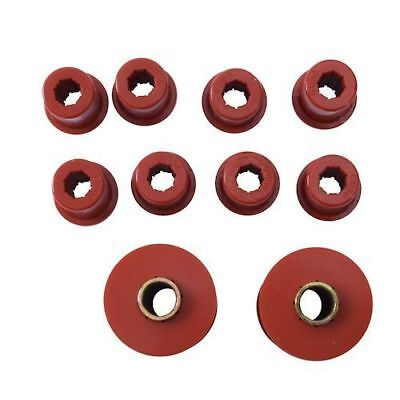 Jeep Cj 76-86 New Prothane Bushing Set Spring Front  X  1-1002
