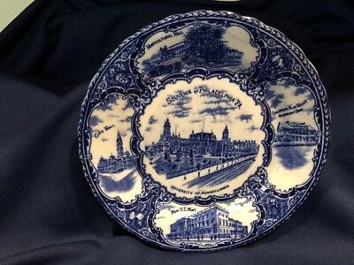 Souvenir of Philadelphia PA Staffordshire England Plate University of PA US Mint