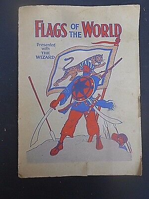 1920/30's Vintage WIZARD Comic FREE GIFT Sticker Book ** FLAGS OF THE WORLD **
