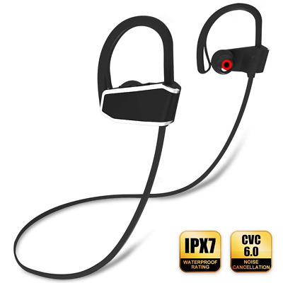 Ear-Hook Wireless Bluetooth Headphones Noise Cancelling Earbuds for Gym Running