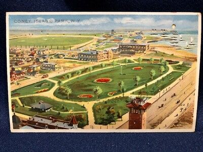 Antique Coney Island Park NY Hold to Light Postcard Koehler #1608 Post Card