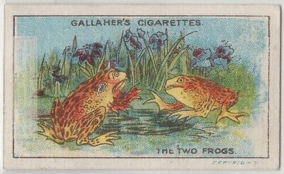 The Two Frogs Aesop's Fable Moral Story 1920s Trade Card