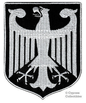 BLACK GERMAN HERITAGE BIKER PATCH embroidered GERMANY SHIELD COAT OF ARMS EAGLE