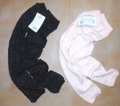 "NWT Harmonie 27"" Knit Legwarmers MNT100 One size Black or Pink"