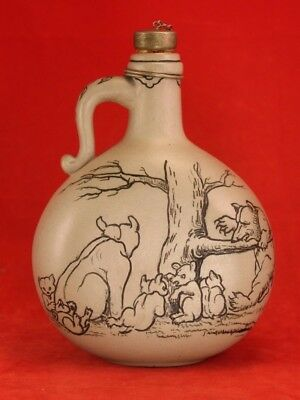 1884 Rookwood - Edward Pope Cranch - Early Jug with Uncle Remus Bears