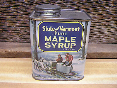 Vermont Pure Maple Syrup Tin Canister