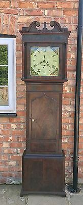Antique Mahogany Wignall Of Ormskirk 8 Day Grandfather Longcase Clock