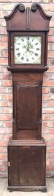 Antique Oak and Mahogany Longcase Grandfather Clock OWEN RICHARDS BALA