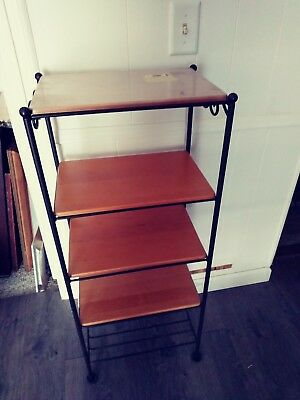 Longaberger Wrought Iron 5-shelf Stand (with four wood shelves)