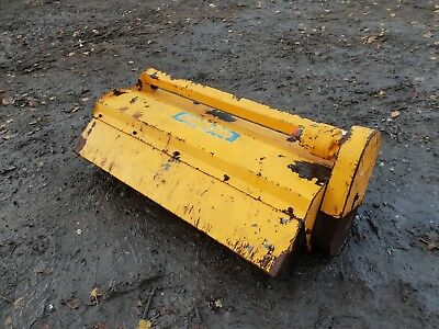 Bomford digger tractor flail hedge cutter grass verges with roller can deliver