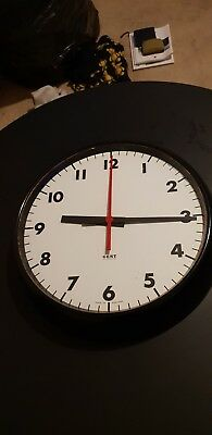 Gent Station Clock Office SLAVE Clock Bakelite Black NEW OLD STOCK