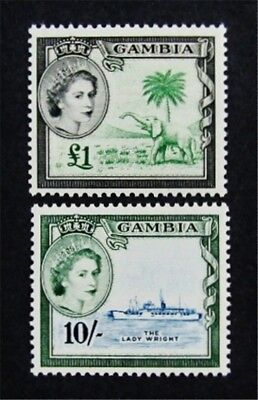 nystamps British Gambia Stamp # 166 167 Mint OG H $38