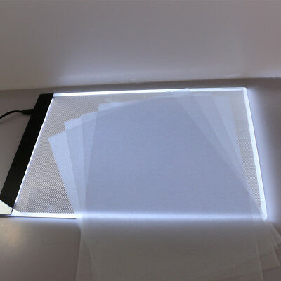 LED Tracing Board Light Box Stencil Drawing Painting Thin Pad Table Art A4 B0T1