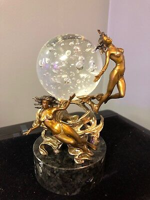 Franklin Mint Passions Of The Future Crystal Ball Sculpture