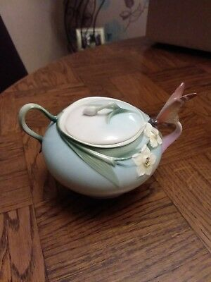 Franz Porcelain Butterfly Sugar Bowl