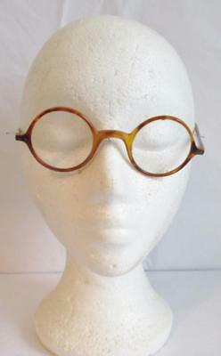 Fabulous Original Vintage Spectacles Round Faux Tortoiseshell Glasses Good Order