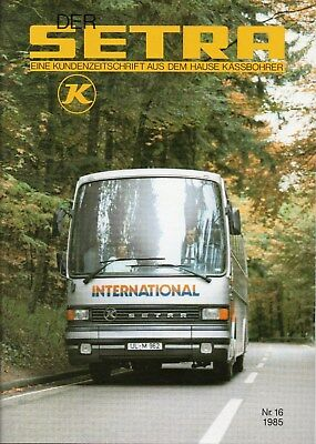 Kassbohrer Setra Customer Magazine No. 16 1985